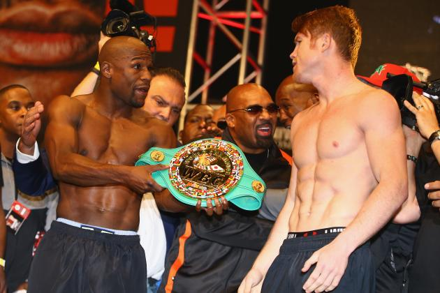 Mayweather vs. Canelo Weigh In: Complete Results from Pre-Fight Event