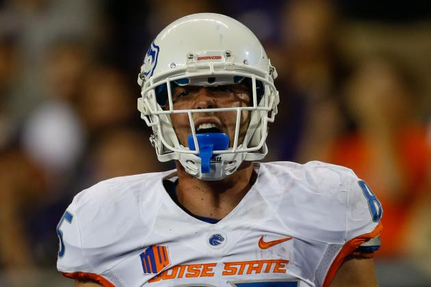 Report: TE Huff out with Undisclosed Injury vs. Air Force