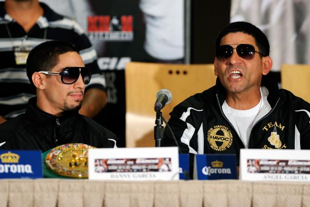 Danny Garcia's Dad Stealing Show from Floyd Mayweather and Canelo Alvarez
