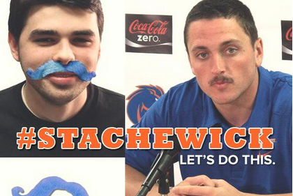 1000 Boise State Students Are Wearing Blue Mustaches to Support QB