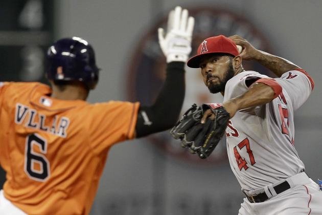 Dominguez Hits Grand Slam, Astros Beat Angels 9-7