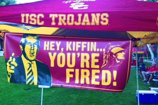 USC Fans Rip Lane Kiffin at Their Tailgates