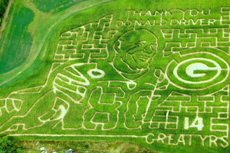 Donald Driver Corn Maze Is Sure to Make Green Bay Packers Fans Smile