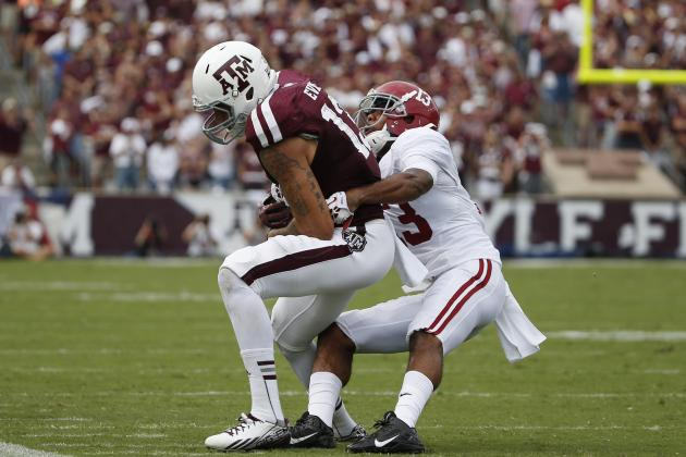 DB Deion Belue out Remainder of Game vs A&M