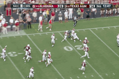 Alabama Safety Vinnie Sunseri Returns Interception 73 Yards for Touchdown