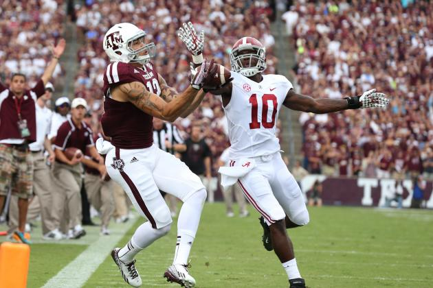 Mike Evans Explodes with Monster 1st-Half Performance vs. Alabama