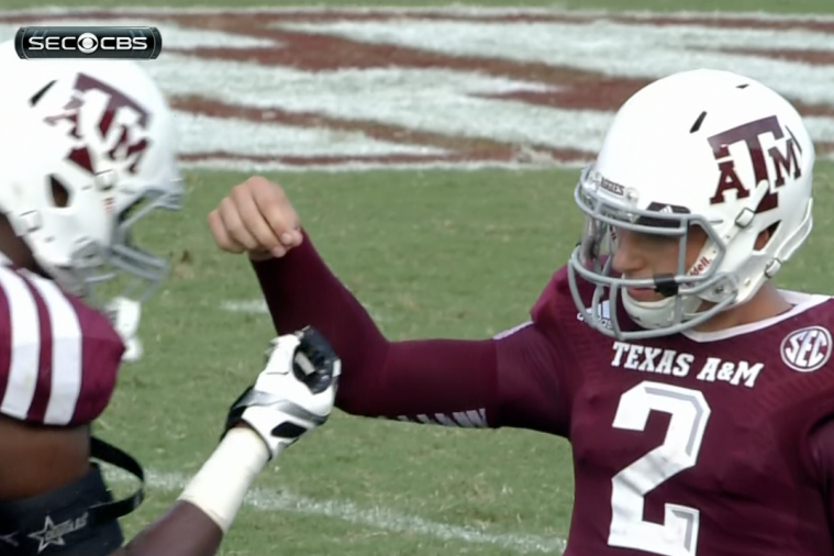 Johnny Manziel and Teammate Nehemiah Hicks Debut Weird Sprinkle Celebration