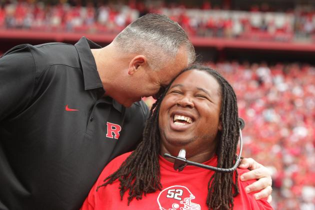 Eric LeGrand's Number Retired by Rutgers at Halftime