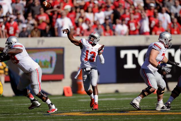 Kenny Guiton Explodes for 3 First-Quarter TDs in Braxton Miller's Absence
