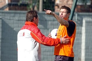 Gerrard Threatened by Crazed Fan in Shocking Training Ground Bust Up