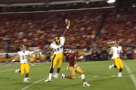 Iowa DB B.J. Lowery Makes a Sick One-Handed Interception