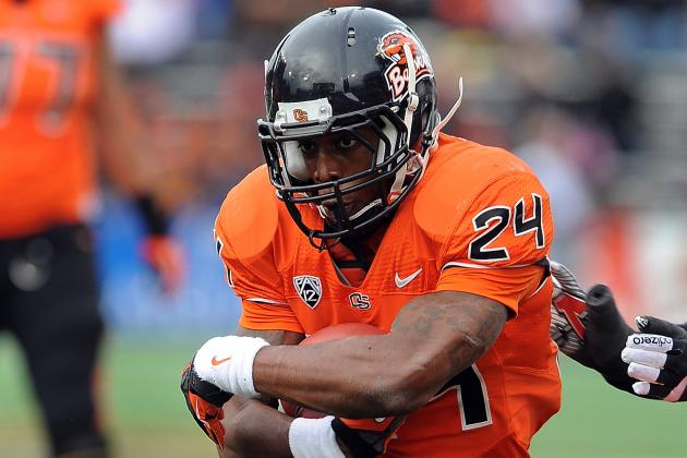 Oregon State's Storm Woods Taken off Field in Ambulance