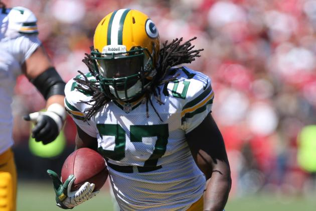 Eddie Lacy Headed to Locker Room for Evaluation