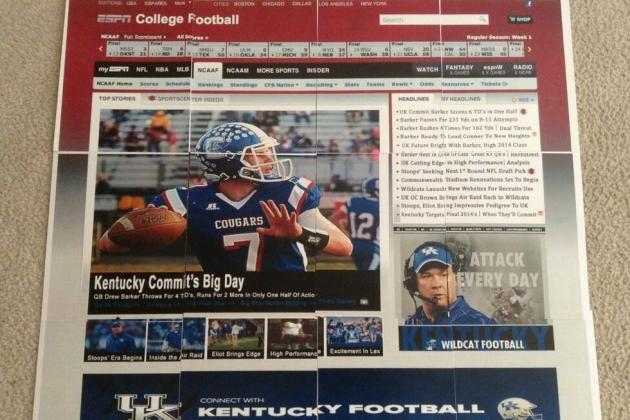 Photo: UK Staff Sends Barker Fake ESPN Page with Stories of Future Success