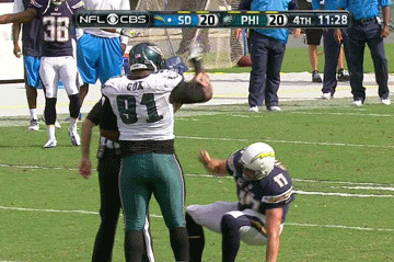 Philadelphia Eagles DE Fletcher Cox Will Not Help You Up, Philip Rivers