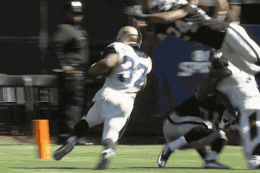 Raiders Safety Charles Woodson Leaps over Blocker for TD-Saving Tackle