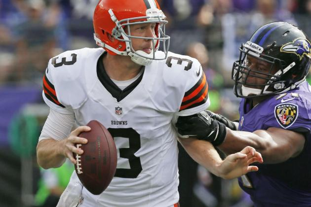 X-Rays Negative on Weeden's Thumb After Late-Game Hit