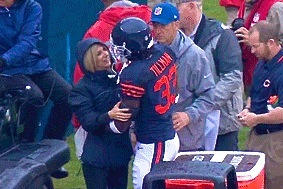 Bears CB Charles Tillman Saves Fox Reporter from Camera Cart