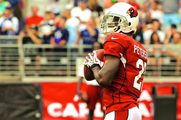 Cardinals CB Patrick Peterson Showcases His Skills by Catching and Throwing