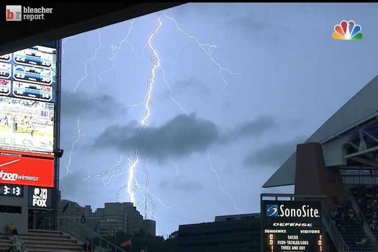 Seahawks vs. 49ers Delayed Due to Lightning in Seattle