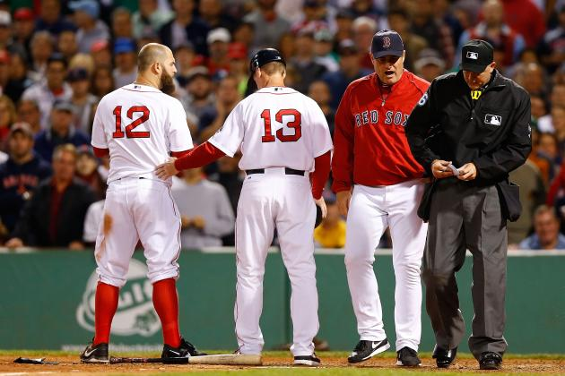 Boston Red Sox Mike Napoli Ejected