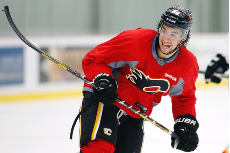 Jooris Comes out of Nowhere to Turn Heads at Flames Training Camp