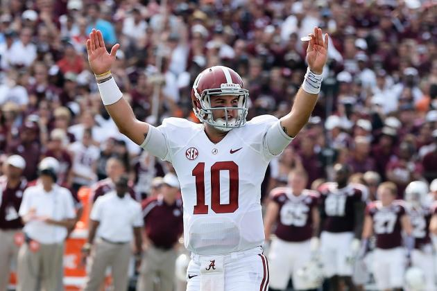 Alabama QB AJ McCarron Headlines Week 3's SEC Players of the Week