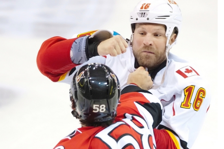 Flames Bring Fists with Them to Pre-Season Game in Saskatoon
