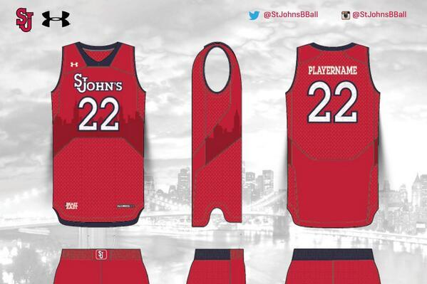 St. John's Has New Under Armour Basketball Uniforms Featuring NYC Skyline