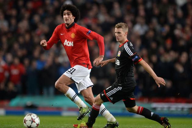 Man Utd 4-2 Leverkusen: Moyes Overloads Flanks, Fellaini the Midfield Star