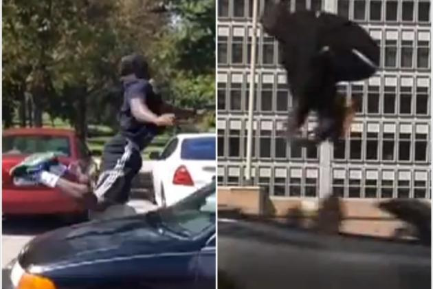 Guy Attempts to Recreate Kobe Bryant's Aston Martin Jump, Ends Up in Ambulance
