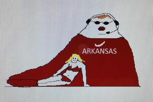 Wisconsin Fan Creates 'Bielema the Hutt' Graphic Mocking Bielema and His Wife