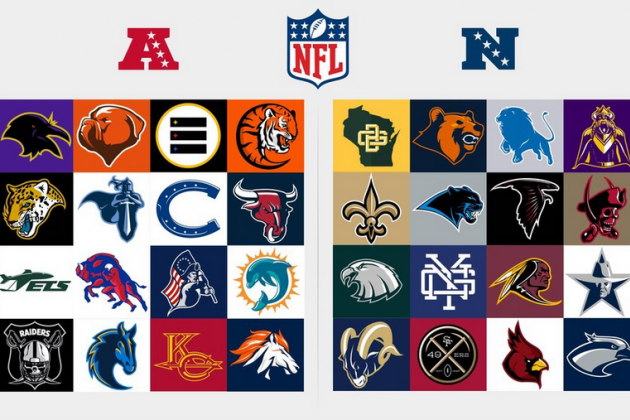 Redesigned Logos for Every NFL Team