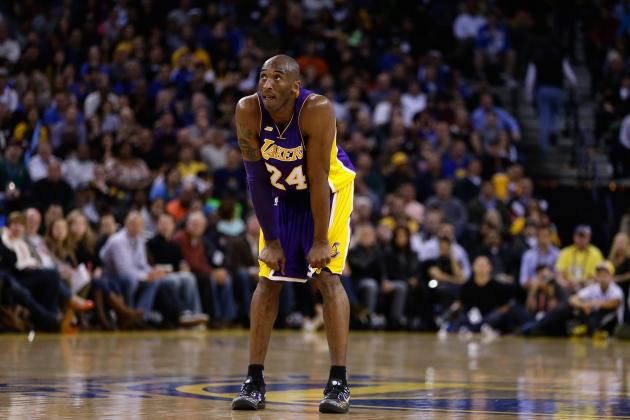 Kobe Bryant Returns to Lakers' Lineup for First Time Since Achilles Tear