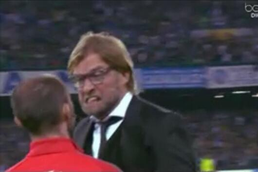 Borussia Dortmund Manager Jurgen Klopp Explodes on 4th Official (GIF)