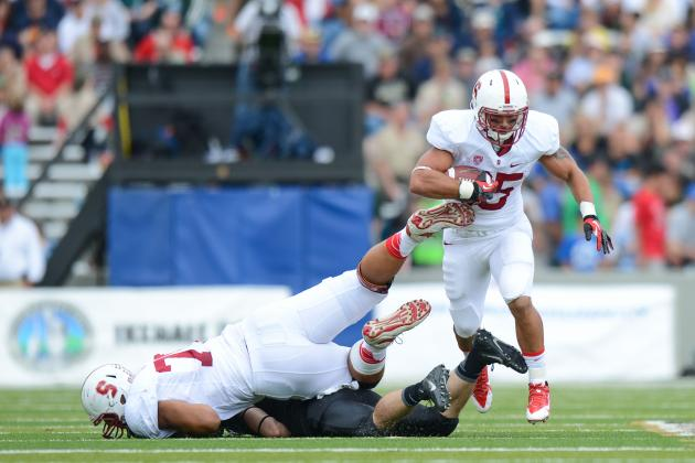 Stanford RB Tyler Gaffney Looks Strong After Returning from Pro Baseball