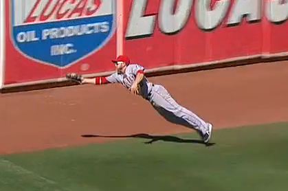 J.B. Shuck Makes Sick Diving Catch to Keep Angels in Game vs. A's