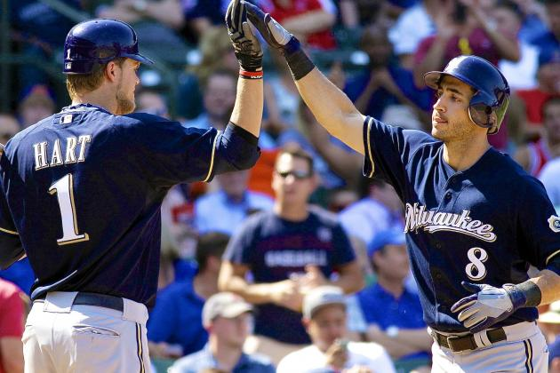 Ryan Braun Visits Brewers Clubhouse for First Time Since 65-Game Suspension