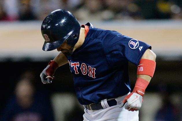 Victorino Day-to-Day with Jammed Thumb
