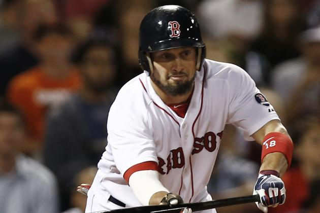 Shane Victorino Leaves with Jammed Thumb