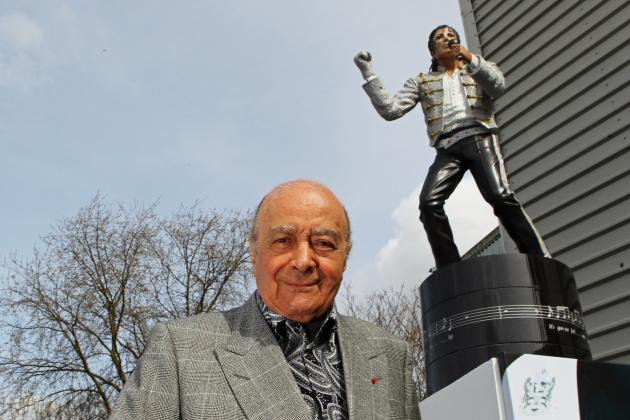 Fulham Get Rid of Michael Jackson Statue, Return It to Mohamed Al Fayed