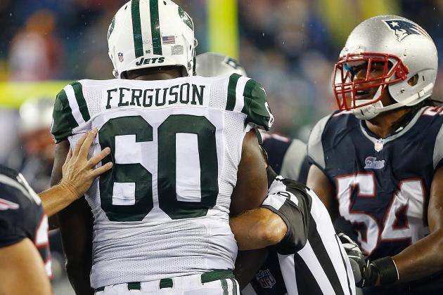 D'Brickashaw Ferguson Fined $15,000 for Scuffle WithPatriots