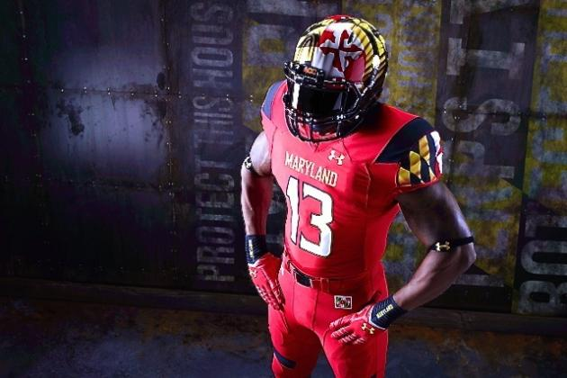 Maryland Football, Under Armour Unveil New Red 'Pride' Uniforms