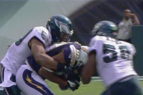 DeMeco Ryans Fined $21K for Hit on Malcom Floyd