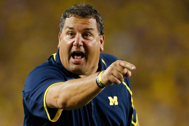 Brady Hoke Considering Offensive Line Changes