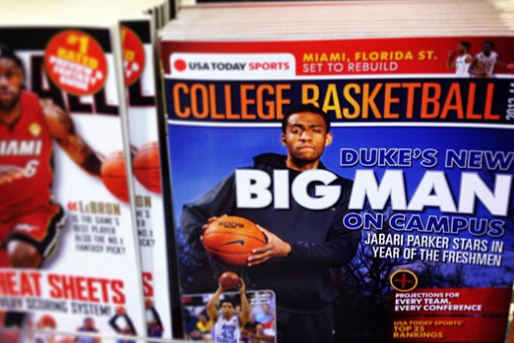 Instagram: Duke's Parker on Mag Cover
