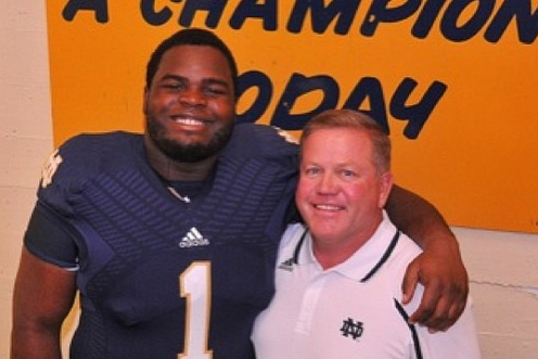 "Nix Tweets Photo of Himself and Brian Kelly, Calls Him ""Irish Cream"""