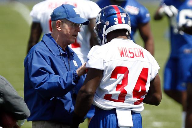 David Wilson's Fantasy Prospects Hurt by Tom Coughlin's Distrust of Young RB