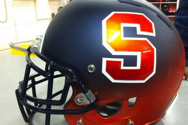 Syracuse Might Be Wearing This Orange/Blue Color-Faded Helmet Tomorrow