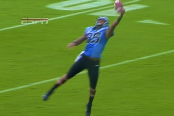 UNC Tight End Eric Ebron Hauls in a Juggling One-Handed Touchdown Catch